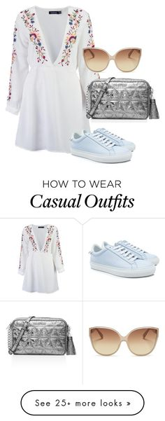 """casual day out"" by infinityqueen0000 on Polyvore featuring Boohoo, Givenchy, Linda Farrow and MICHAEL Michael Kors"