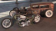 Rat Rod and bike by Gas Monkey Garage