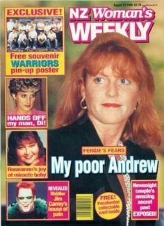 NEW ZEALAND - WOMAN'S WEEKLY MAGAZINE -AUGUST 21, 1995 - SARAH FERGUSON
