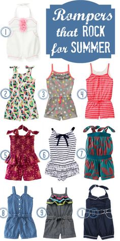 Girls Rompers for spring summer