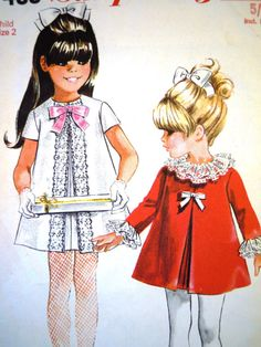 Super easy little dress to make Cute mod dress sewing pattern by Simplicity Size 2 UK Seller