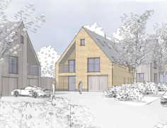 Bannerlands | Dadford, Bedfordshire Won at Planning Appeal 2011 Sensitive development of five new homes in a historic rural area. These five new village houses within the sensitive rural setting of historic Stowe House provide comfortable family accommodation with beautiful…Read more ›