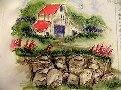 OLD-BARN, flowers, rock pile, greenery &  all the other items used in examples sold separately. Made by Art Impressions. You can purchase these  in  my ebay store. Click on picture & it will take you into this listing in my Ebay Store. .  My ebay Store is:  Pat's Rubber Stamps & Scrapbooks or call me 423-357-4334 with order. We take PayPal. You get free shipping with $30.00 or more on phone orders.