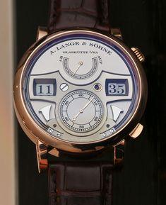Lange & Söhne Zeitwerk Striking Pink Gold Watch Hands-On Cool Watches, Watches For Men, Wrist Watches, Luxury Watches, Rolex Watches, White Clay Mask, Skeleton Watches, Black Polish, Rose Gold Watches