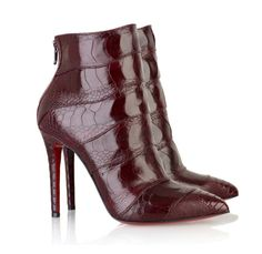 Red Bold Leather Boots