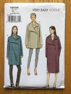 Vogue Patterns, Coat Patterns, Sewing Patterns, Miss Dress, Selling On Ebay, Shoulder Pads, Clothing Items, Double Breasted, Military Jacket