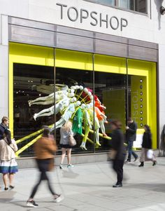 TOPSHOP windows NEON architects studioXAG London #VisualMerchandising