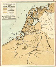Friesland in de Germaanse Tijd - Friesland in de Germaanse Tijd - # Netherlands Map, Old Maps, Historical Maps, Holland, Dutch, About Me Blog, Country, Posters, Languages