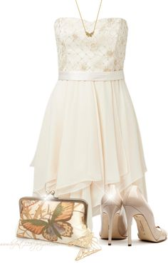 """""""* Strapless * Waterfall Dress"""" by hrfost1210 on Polyvore"""