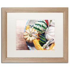 """Trademark Art 'Autumn Gourds' by Jennifer Redstreake Framed Painting Print Size: 16"""" H x 20"""" W x 0.5"""" D"""