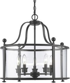 Z Lite 135 5 Light Pendant Wyndham Collection Clear Finish