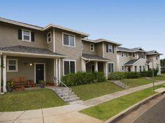 Navy Region Hawaii – Radford Terrace Neighborhood: 3-4 bedroom townhomes designated for E1-E6 families.