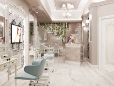 Дизайн-проект салона красоты г. Краснодар on Behance Makeup Studio Decor, Nail Salon Decor, Beauty Salon Decor, Beauty Salon Design, Beauty Salon Interior, Day Spa Decor, Salon Interior Design, Home Salon, Beauty Room