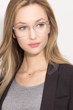 Clear horn eyeglasses available in variety of colors to match any outfit. These stylish full-rim, medium sized acetate eyeglasses include free single-vision prescription lenses, a case and a cleaning cloth. Eyeglasses For Round Face, Cheap Eyeglasses, Best Eyeglasses, Eyeglasses For Women, Specs Frames Women, Clear Glasses Frames Women, Glasses Frames Trendy, Aviator Glasses, Eye Glasses