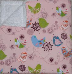 Alexander Henry Pink Starlings and by littlethingsboutique on Etsy, $25.00