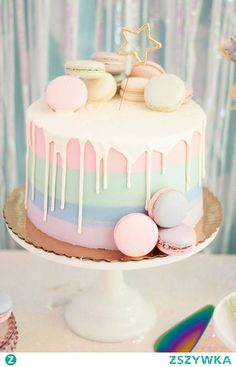 I should've got this cake for my girly pastel themed birthday! Comment birthday party themes for a 12 year old! I should've got this cake for my girly pastel themed birthday! Comment birthday party themes for a 12 year old! Pretty Birthday Cakes, Birthday Cakes For Teens, Cute Birthday Cakes, Homemade Birthday Cakes, Pretty Cakes, Cute Cakes, 12 Year Old Birthday Party Ideas, Baby Girl Birthday Cake, Cake For Baby Girl