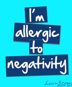Positive Quote, stay away from negative thoughts www.praiseworks.biz