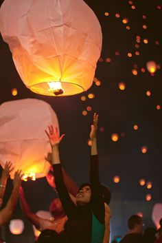 At Hyderabad's first annual Sky Lantern Festival - India