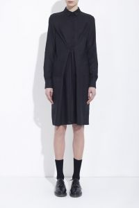 Black cotton wrap-shirt-dress // honest by. BRUNO PIETERS / Vegan, Skin friendly