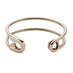 Safety Pin Cuff - Bronze