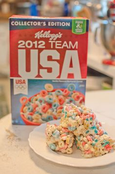 USA Olympic Cereal Treats