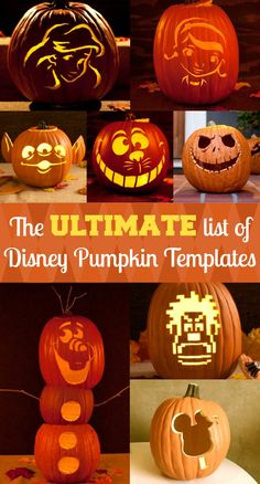 Free Printable Disney Pumpkin Carving Templates - Includes Star Wars, Marvel, Pixar and more!