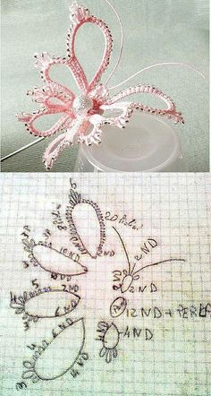 tatting butterfly diagram