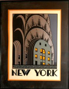 Art deco posters with buildings - Google Search