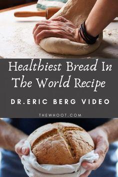 Healthiest Bread In The World Dr Eric Berg Recipe - Healthy bread - Homemade Bread Healthy Bread Recipes, Healthy Baking, Whole Food Recipes, Cooking Recipes, Healthy Bread Recipe For Bread Machine, Gluten Free Multigrain Bread Recipe, Whole Grain Gluten Free Bread Recipe, Ancient Grain Bread Recipe, Best Paleo Bread Recipe