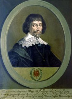 Philippe-Charles (1587-1640), third sovereign prince of Arenberg and 6th duke of Aarschot. 3rd marriage to Marie-Cleopha von Hohenzollern-Sigmaringen in 1632.