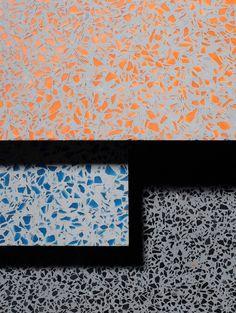 DIY: klassiek terrazzo van cement en glas