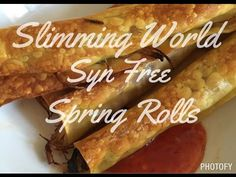 Slimming World Syn Free Spring Rolls Slow Cooker Slimming World, Slimming World Recipes Syn Free, Appetizer Dishes, Appetizer Recipes, Slimming World Spring Rolls, Butter Bean Soup, Chinese Spring Rolls, Chinese Fakeaway, Chinese Appetizers