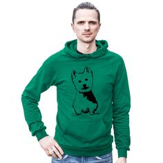 West Highland Terrier Hoodie, Westie Dog, Dog Lover Gift, Cool Hoodies, Westie Owner Gift, Unisex Hoodie, Oversized Jumper, Quirky Clothing by MONOFACESoADULT on Etsy