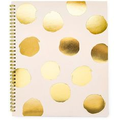 sugar paper Polka Dot Spiral-Bound Notebook ($30) ❤ liked on Polyvore featuring home, home decor, stationery, fillers, books, notebooks, accessories, backgrounds, borders and no color