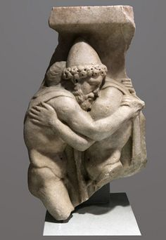 Odysseus and Laertes | Flickr - Photo Sharing! Marble fragment of a Roman sarcophagus that dates from the middle of the second century CE. Odysseus (Ulysses), wearing his characteristic conical hat, embraces his aged father Laertes. From the Museo Barracco, Rome. Luna (Carrara) marble inv. MB 144