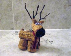 Cerf rustique, renne ficelle et vin de Liège ornement, décoration de Noël, étiquette, bouteille de vin charme