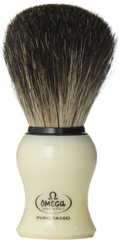 Omega 13109 Creamy Curved Handle Pure Badger Shaving Brush Omega,http://www.amazon.com/dp/B000K8FUFM/ref=cm_sw_r_pi_dp_mc7Ctb1R670ADRSM