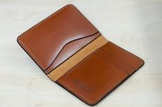 No. 53 French Gold Calfskin Compact Bifold Leather by ChesterMox-SR