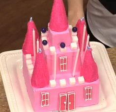 This Princess Castle Cake looks amazing! I watched the video on how to make it and it's definitely doable! She even shows how to decorate it for a boy's cake. I think I'll be making this one for my girl's next birthday!