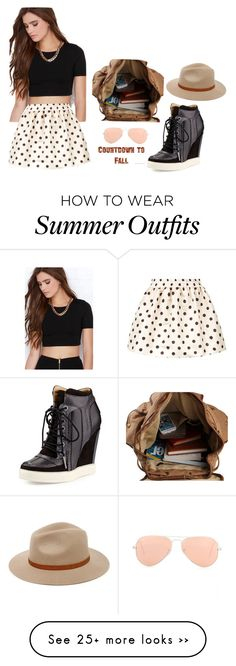 """Outfit"" by jealecs on Polyvore featuring Lulu*s, RED Valentino, L.A.M.B., Ray-Ban and Billabong"
