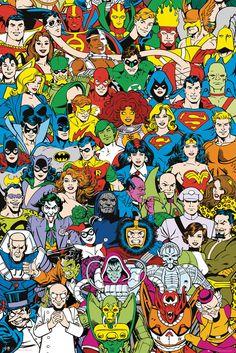 Poster-Superheroes-DC-Comics-Poster-DC-Comics