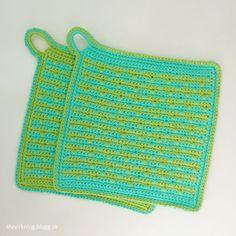 LiteVirkning - Britts grytlappar (crochet)