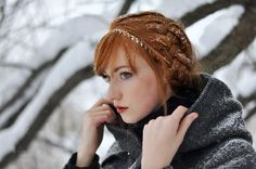women outdoors women redhead model portrait snow winter photography dress braids fashion spring Person skin clothing head Alina Kovalenko child girl beauty season eye lady portrait photography photo shoot organ 1600x1063 px