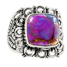 Copper Purple Turquoise 925 Sterling Silver Ring Jewelry s.9 SR203948