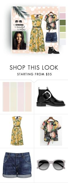 """""""Be You Floral Sets"""" by i-am-khaleesi1 on Polyvore featuring Grace, Maison Margiela, Marc Jacobs, Citizens of Humanity and Ace"""