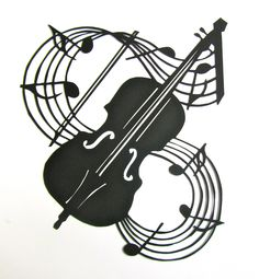 VIOLIN and Music Notes Wall and Home Décor Silhouette Paper Cutout Handmade Framed One Of A Kind. $100.00, via Etsy.