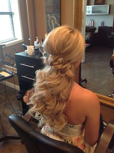 Half updo  wedding hair  Ashley @ Dean Sadler Hair Studio
