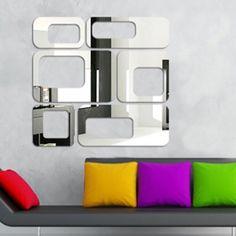 Espelho Decorativo Pontos Quadrados