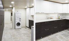 Kodinhoitohuone ja kylpyosasto tilaa täynnä - Laattapiste KylpyhuoneetLaattapiste Kylpyhuoneet