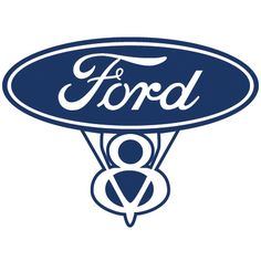 Ford V8 Logo - available now from www.RicksGraphix.co.uk